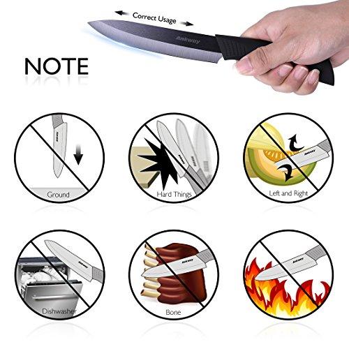 Ankway couteaux de cuisine en c ramique 5 en 1 ensemble for Gamelle cuisine professionnel