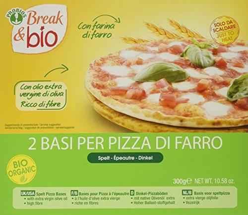 Probios Base per Pizza di Farro - Confezione da 2 Basi [300 gr] - [confezione da 2]