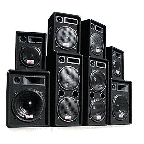 """2 Enceintes Passives Sono DJ 300W RMS subwoofer 12"""" Pack Pro 28"""