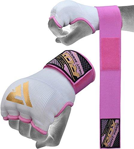 RDX Fasce Boxe Bende per Mani Polsi Elastiche Pugilato Bendaggi MMA Guanti Interi Sottoguanti.