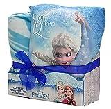 Disney Cofanetto Frozen Elsa Cuscino e Plaid, 100% Poliestere, Blu, 100x 130cm + 35x 35cm