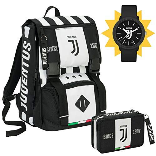 SEVEN SPA F.C. Juventus - Schoolpack Juventus League - Zaino Sdoppiabile + Astuccio 3 Zip Completo...