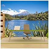 azutura Volcano Landscape Wall Mural New Zealand Photo Wallpaper Living Room Home Decor available in 8 Sizes Gigantic Digital