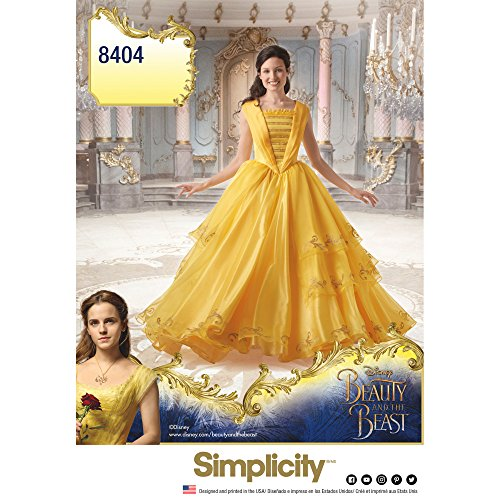 Simplicity Disney Beauty and The Beast Costume for Misses Art and Craft Sewing Template, H5 (6-8-10-12-14)