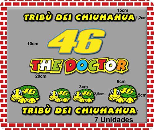 Pegatinas moto Tribu Chihuahua Rossi VR46 R88