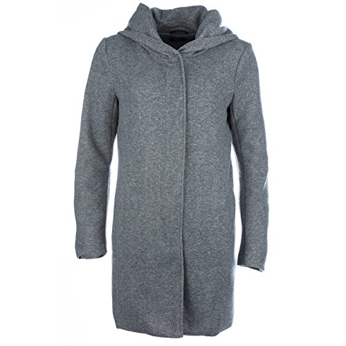 ONLY Damen Kurzmantel Übergangsmantel (M, Light Grey Melange)