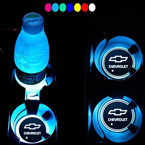 Interesting car Lot de 2 Lampes LED pour Porte-gobelet de Voiture 7 Couleurs changeantes USB Tapis de Charge Luminescent Tampon LED pour int... 30
