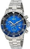 Edox Herren Chronograph Quarz Uhr mit Edelstahl Armband 10227-3NBUM-BUBN