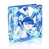 AAB Cooling Super Silent Fan 8 Blue LED - Un Silencioso y Muy Efectivo Ventilador 80mm con LED Azul   Ventilador de Portatil   Fan Cooler 8cm   Ventiladores PC   33m3/h   1600 RPM