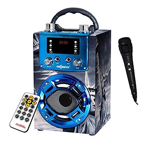 Suinga. Radio Altavoz New York portatil Karaoke. Altavoces con Radio FM microfono USB MP3. Altavoz con Bluetooth conexión al móvil. Batería de Litio Recargable. Incluye Mando a Distancia y micrófono.