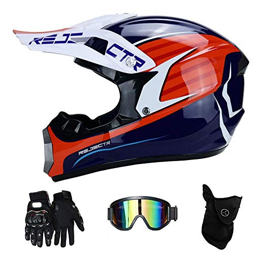 NJMSC Certificazione moto motocicletta Caschi e GUANTI e occhiali DOT bambini Quad ATV Go Kart...