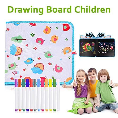 STLOVe Portatile da Disegno per Bambini,Doodle Disegno Giocattoli per Bambini con 14 Pagine 12...