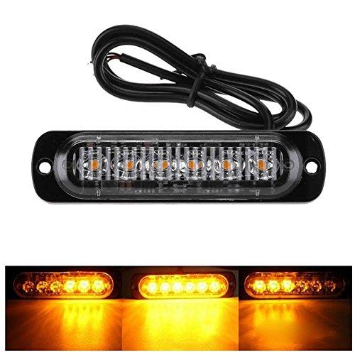UEB 12-24V 18W 6 LED Luce Lampeggiante Emergenza Luce Stroboscopica d'avvertimento del Veicolo LED...