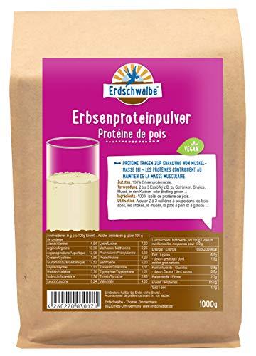 Erdschwalbe Erbsenprotein - 85{5f6f394e51440728b86807dc02b348252ee1bdba2a472189fca6ff2038a5a3ba} Proteingehalt - Veganes Eiweißpulver - 1 Kg