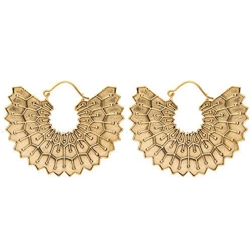 Pendientes- gipcios en laton color oro