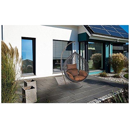Home Deluxe Polyrattan Hängesessel Cocoon, inkl. Gestell, Sitz- und Rückenkissen -