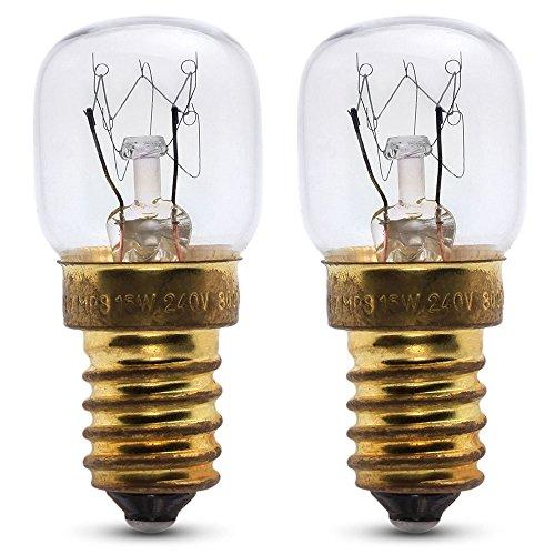 2x 25W lampadina per forno per uso all' interno di un Hoover forno. 240V. 300°, resistente...