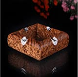 Portacenere Impiallacciatura in legno massiccio applicare allesterno o al giardino,10 cm