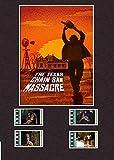 Desconocido Masacre de Motosierra de Texas (1974) Estilo célula de película 8 x 6 montada 4 Celdas, Enmarcado, 25,40 x 20,32 cm