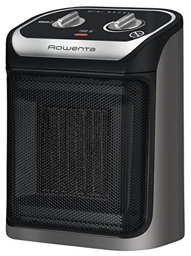 Rowenta SO9265F0 Radiateur Soufflant Céramique Mini Excel Eco Safe Chauffage d'Appoint 2 Réglages Température Chaud Mode Economie Energie Ventilation Froid Ventilateur 1800W Noir