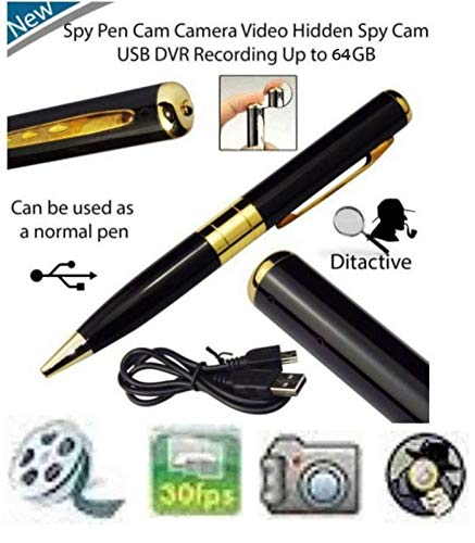 SR Global Spy Hd Pen Camera with Voice-Video Recorder and Dvr-Hidden-Camcorder Model 127435