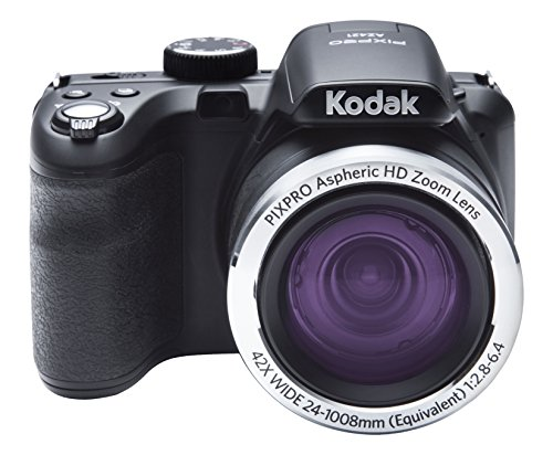 "Kodak PIXPRO AZ421 - Cámara digital (16.15 Mp, Cámara puente, 25.4/58.4 mm (1/2.3""), 42x, 4x, 4.3-180.6 mm), color negro"