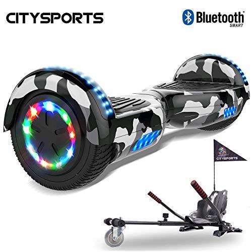 CITYSPORTS Hoverboard 6.5 Pollici, Scooter Elettrico di Auto bilanciamento, Ruote Leggere a LED,...