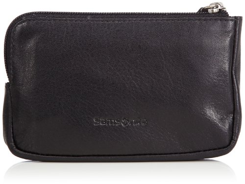 Samsonite Success SLG Zip Key Pouch 2 R Portachiavi, Pelle, Nero, 12 cm