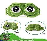 Mascherina per dormire, Bllomsem fluff dormire divertente novità cartone animato rana copricapo eyeshade maschera di viaggio del sonno (verde)