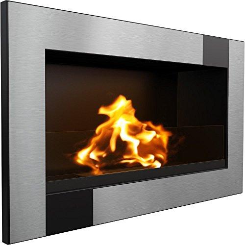 KRATKI Golf Cube Bio-Ethanol Fireplace with Glass, 648 x 374 mm