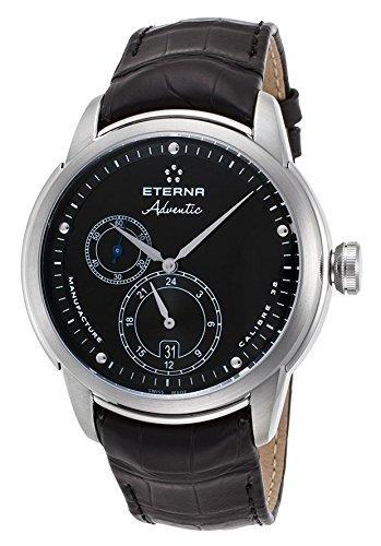 Eterna Adventic Herren-Armbanduhr 44mm Armband Aligatorleder Gehäuse Edelstahl Automatik 7660-41-46-1273