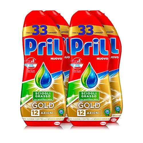 Pril Gold Gel lavastoviglie Sciogli Grasso, Detersivo lavastoviglie con sgrassatore attivo,...