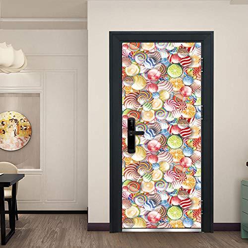 XXXCH Poster Per Porta 3D Cantinetta Vintage 80X200Cm Porta Murale Home Decorazione Da Parete Murale...