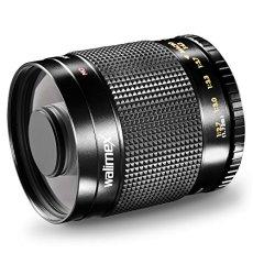 Walimex 500 mm 1:8.0 DSLR - Objetivo para Olympus Cuatro Tercios (distancia focal fija 500mm, apertura f/8, diámetro: 30.5 mm), negro