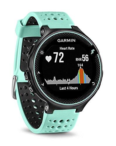 Garmin Forerunner 235 - Reloj con pulsómetro en la muñeca, unisex, color eléctrico Negro y Azul Hielo, talla única