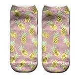 JSGJWWZZ Men's Socks 3D Digital Printing Socks Boat Socks Socks Adult Socks Small Pineapple Print Socks