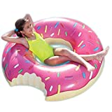 ARDISLE 90 CM NOVELTY DONUT SWIMMING INFLATABLE RUBBER SWIM RING HOLIDAY POOL FUN LARGE KIDS CHILDRENS