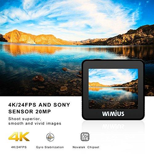 Action Cam 4K WIFI Fotocamera Subacquea Impermeabile HD 20MP Action Sport Camera 170° Grandangolare...