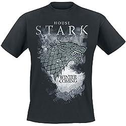 Game Of Thrones House Stark Camiseta Negro L