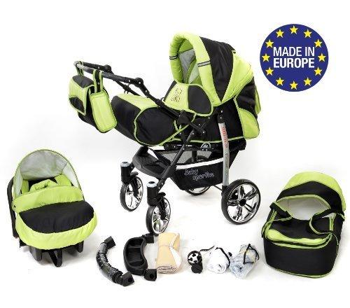 Sportive X2, 3-in-1 Travel System con carrozzina, seggiolino auto, passeggino sportivo e accessori...