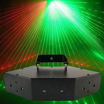 HDZWW Lumières de fête activées par le son Dj Lighting RBG Disco Ball Lampe stroboscopique Par Lumière pour la pièce à la maison Fêtes de danse anniversaire DJ Bar Karaoké Spectacle de mariage de Noël