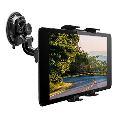 kwmobile Supporto Tablet per Auto - Regolabile 11-20,7 cm orientabile 180° con Ventosa per Vetro...