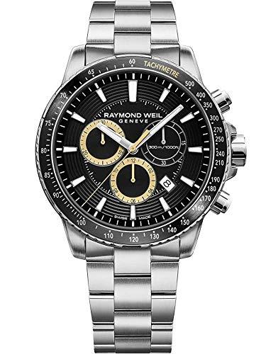 Raymond Weil orologio al quarzo, nero, 43mm, cronografo, 8570-st1-20701