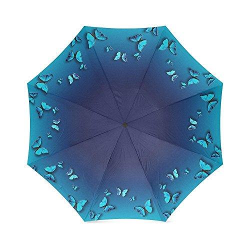 lalkio personalizada Flying Mariposa paraguas automático paraguas de viaje plegable