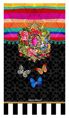 Melli Mello Toalla Playa Zaira Rosa/Marrón 100 x 180 cm
