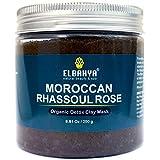 Elbahya marocchino Ghassoul Argilla Maschera con Rosa. Moroccan (Rhassoul) Clay Mask. Organic poro profondo pulizia maschera per capelli e il viso. 250g