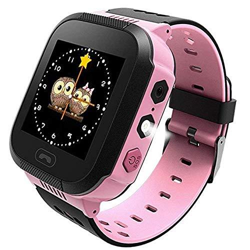 JEANS DREAM Intelligente Orologio Smartwatch per Bambini,Touch Screen Tracker GPS con Fotocamera SIM...