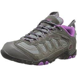 Hi-Tec Windermere Low WP W (Co) - Botas de senderismo de cuero mujer, color gris (Charcoal/Purple), talla 38 (5 UK)