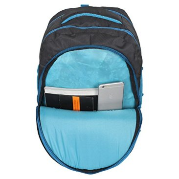 Sassie Polyester 41 L Black Blue School and Laptop Bag with 3 Large Compartments 7