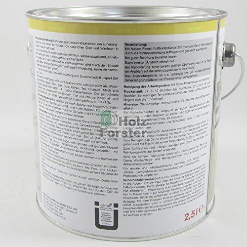 Osmo 3032D 2.5litri Polyx olio di cera dura–trasparente satinato